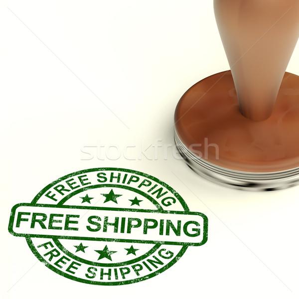Ingyenes szállítás bélyeg nem ingyenes mutat Stock fotó © stuartmiles
