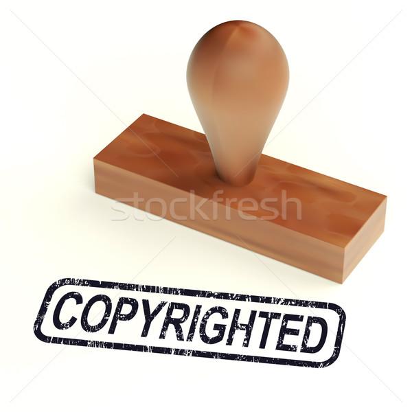 Tonen octrooi teken bescherming eigendom Stockfoto © stuartmiles