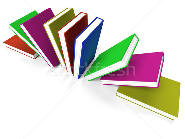Books On A Shelf Shows Learning Or School Stock photo © stuartmiles