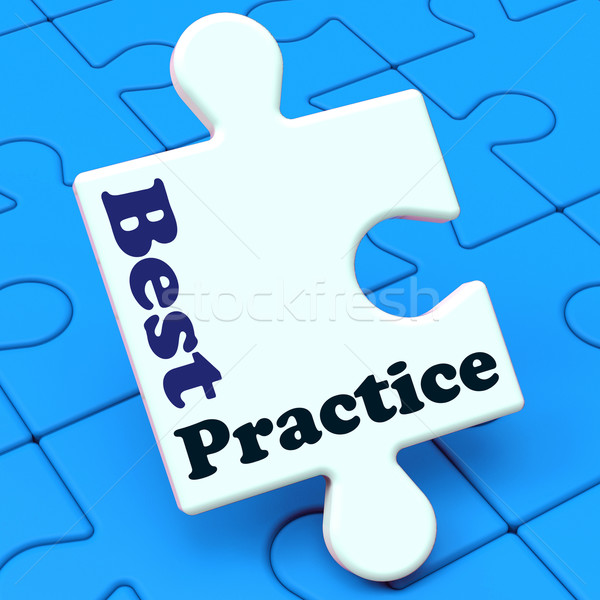 Best Practice Shows Effective Concept Improving Business Stock photo © stuartmiles