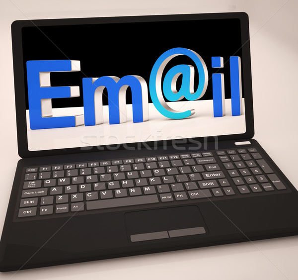E-Mail Laptop Posteingang Internet Web Stock foto © stuartmiles
