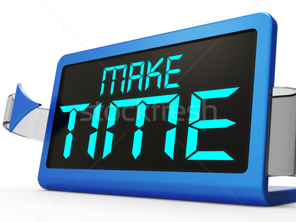 Make Time Clock Shows Scheduling And Planning Stock photo © stuartmiles