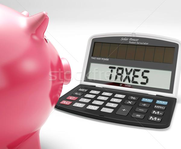 Adózás számológép jövedelem adó visszatérés mutat Stock fotó © stuartmiles