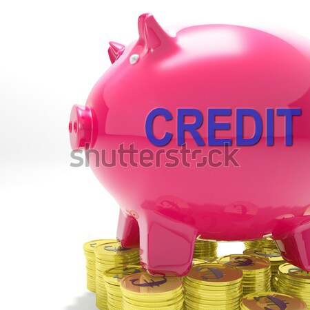 Pound In Piggy Shows Currency And Investment Stock photo © stuartmiles