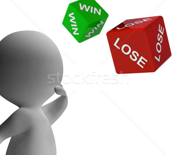Kazanmak kaybetmek zarlar kumar kazanan Stok fotoğraf © stuartmiles