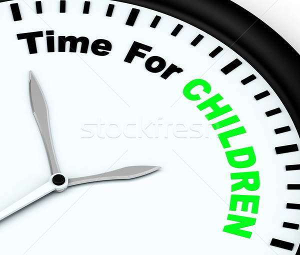 Time For Children Message Meaning Playtime Or Getting Pregnant Stock photo © stuartmiles