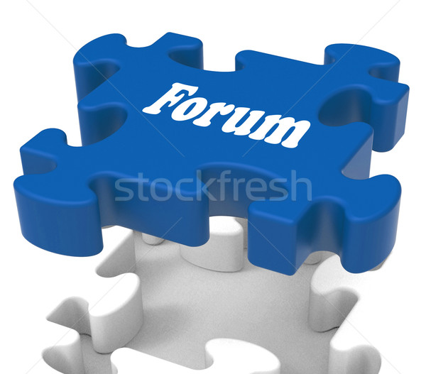 Forum puzzle communauté discussion conseil Photo stock © stuartmiles