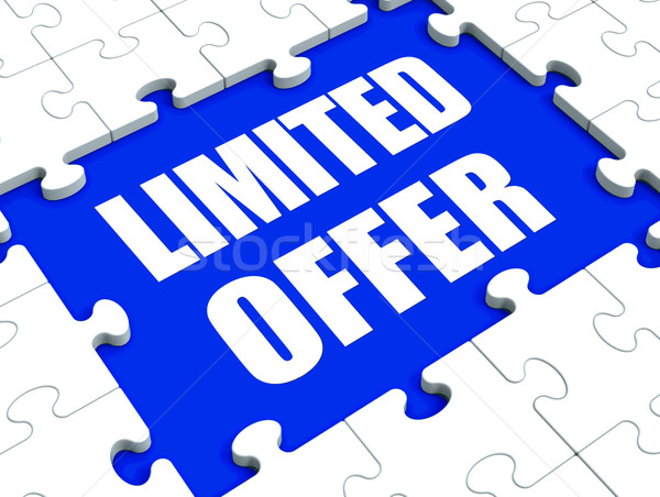 Stock photo: Limited Offer Puzzle Shows Deadline Product Promotion