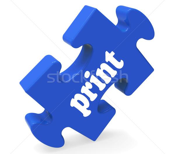 Print Key Shows Printing Copying Or Printout Stock photo © stuartmiles