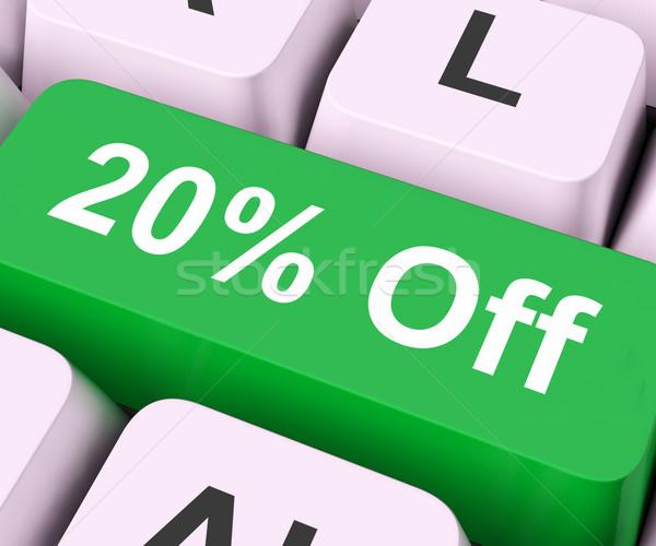 Twenty Percent Off Key Means Discount Or Sale Stock photo © stuartmiles