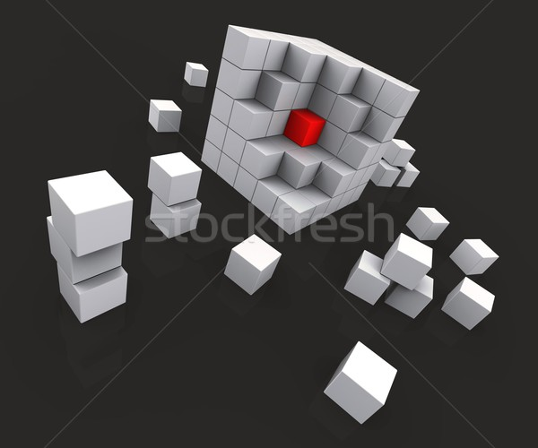 Milieu blocs noyau centre Photo stock © stuartmiles