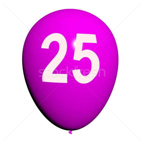 25 Balloon Shows Twenty-fifth Happy Birthday Celebration Stock photo © stuartmiles