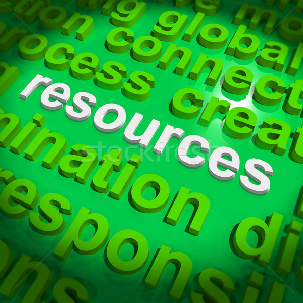 Resources Word Cloud Shows Assets Human Financial Input Stock photo © stuartmiles