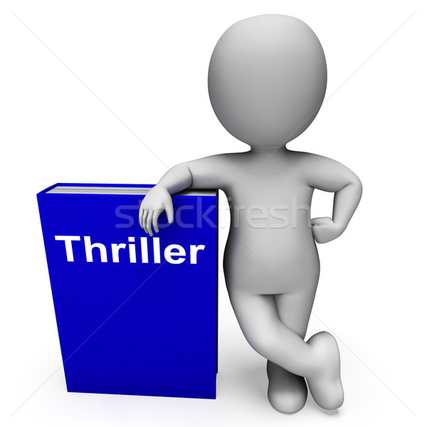 Thriller Book And Character Shows Books About Action Adventure M Stock photo © stuartmiles