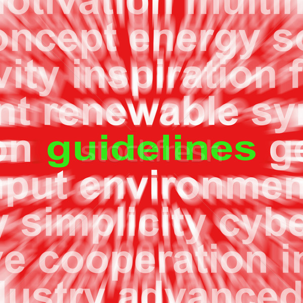 Guidelines Word Means Instructions Protocols And Ground Rules Stock photo © stuartmiles