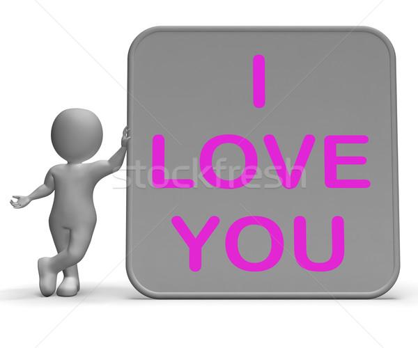I Love You Sign Shows Loving Partner Or Family Stock photo © stuartmiles