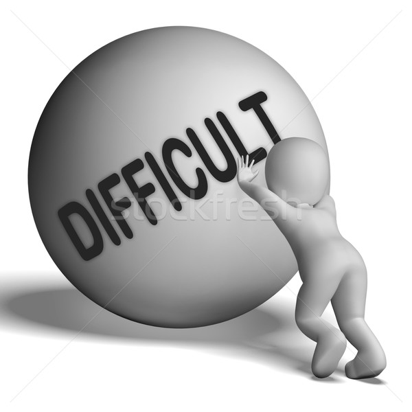 Difficult Character Means Hard Challenging Or Problematic Stock photo © stuartmiles