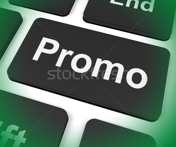 Promo Key Shows Discount Reduction Or Save Stock photo © stuartmiles