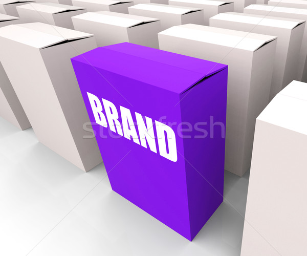 Brand Box Refers to Branding Marketing and Labels Stock photo © stuartmiles