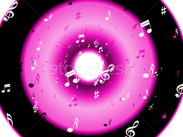 Musical Notes Background Shows Musical Wallpaper Or Digital Art Stock photo © stuartmiles