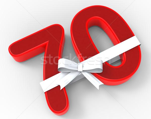 Aantal lint verjaardag gefeliciteerd betekenis geluk Stockfoto © stuartmiles