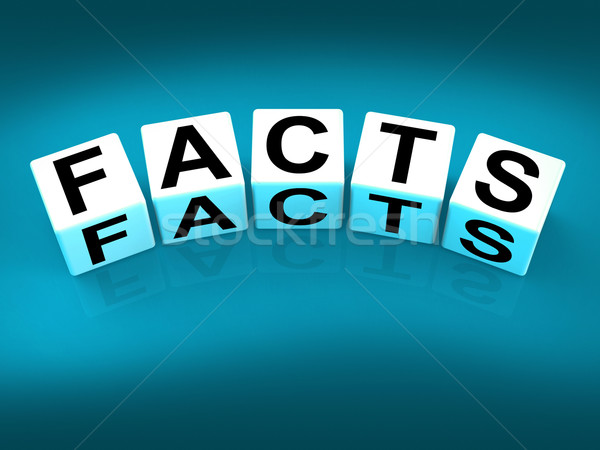 Stock photo: Facts Blocks Refer to Information of Reality and Truth