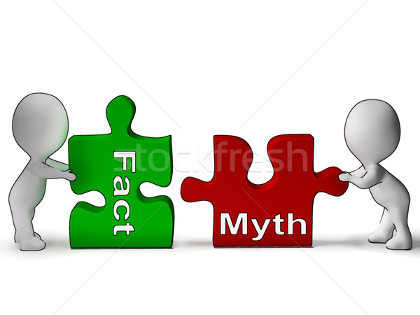 Fact Myth Puzzle Shows Fact Or Mythology Stock photo © stuartmiles
