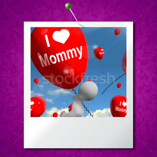 Amour photo ballons affectueux sentiments Photo stock © stuartmiles