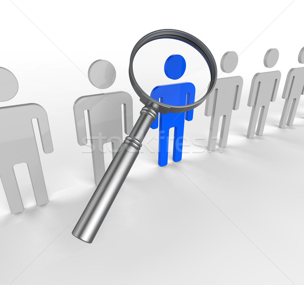 Finding Staff Means Search Out And Brilliance Stock photo © stuartmiles