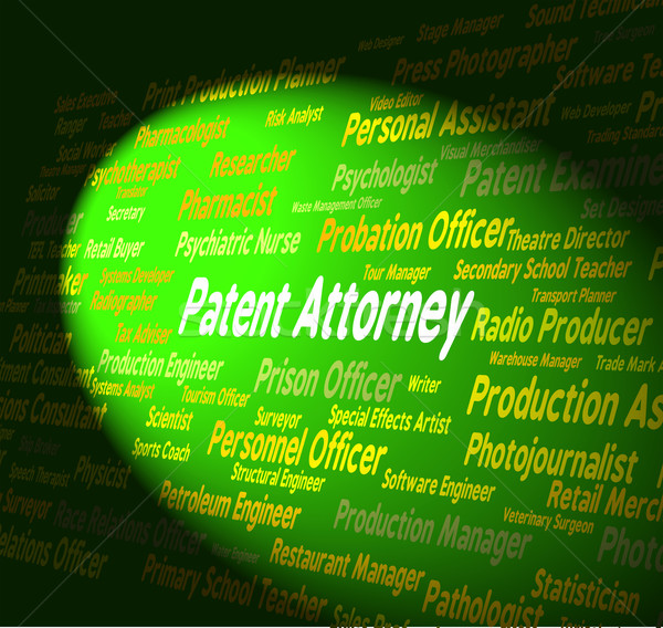 Stock photo: Patent Attorney Shows Legal Adviser And Copyright
