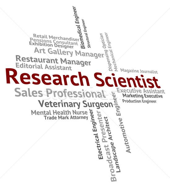 Kutatás tudós gyűlés adat elemzés mutat Stock fotó © stuartmiles