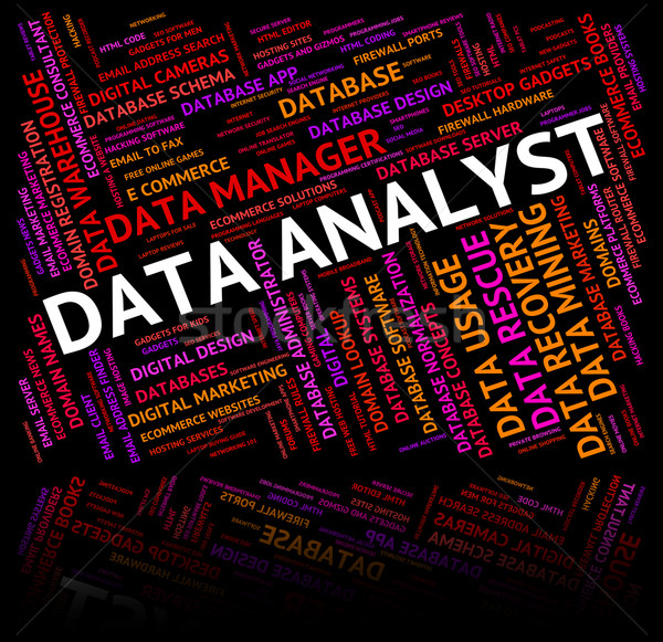 Data Analyst Shows Analysis Analyze And Facts Stock photo © stuartmiles