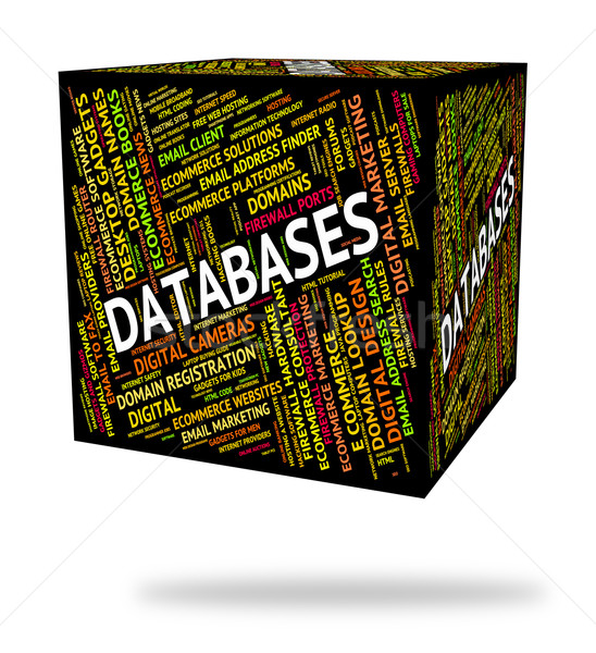 Databases Word Indicates Info Words And Text Stock photo © stuartmiles