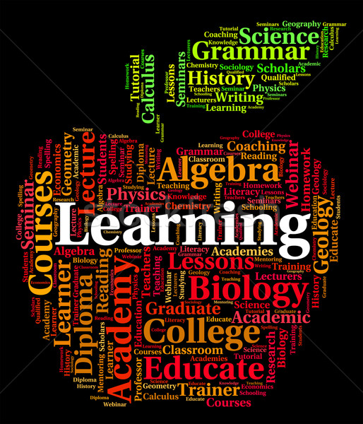 Learning Word Means Text Educate And Tutoring Stock photo © stuartmiles