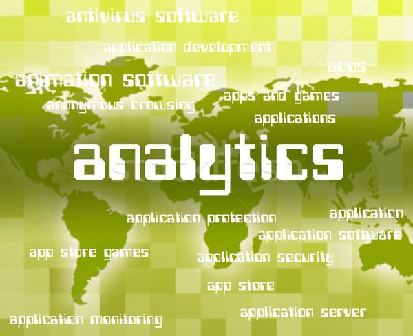 Analítica palabra colección línea informe texto Foto stock © stuartmiles