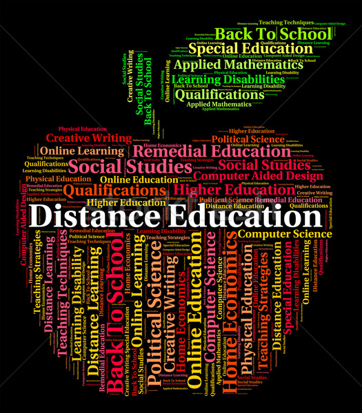 Distance Education Words Shows Correspondence Course And Develop Stock photo © stuartmiles
