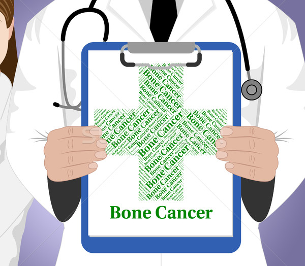 Bone Cancer Means Cancerous Growth And Ailment Stock photo © stuartmiles