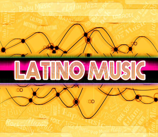 Latino Music Represents Sound Tracks And Harmonies Stock photo © stuartmiles