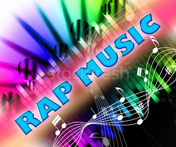 Rap muziek bars betekenis geluid track Stockfoto © stuartmiles