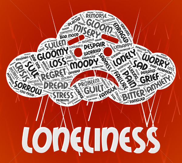 Loneliness Word Means Wordclouds Unwanted And Friendless Stock photo © stuartmiles
