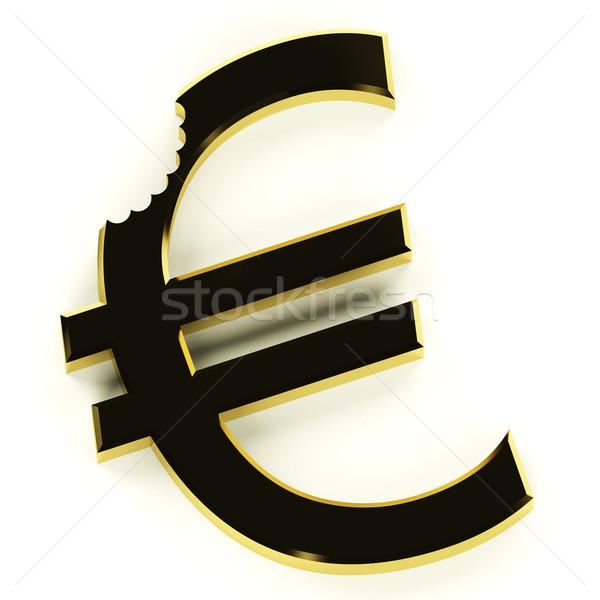 Euro ısırmak ekonomik kriz durgunluk Stok fotoğraf © stuartmiles