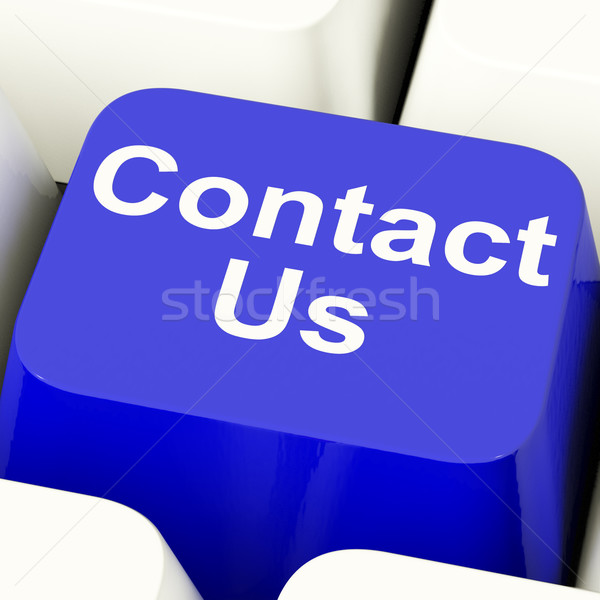 Contact Us Computer Key In Blue For Helpdesk Or Assistance Stock photo © stuartmiles