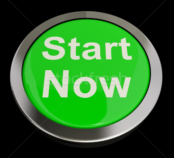 Start Now Button Meaning To Commence Immediately Stock photo © stuartmiles