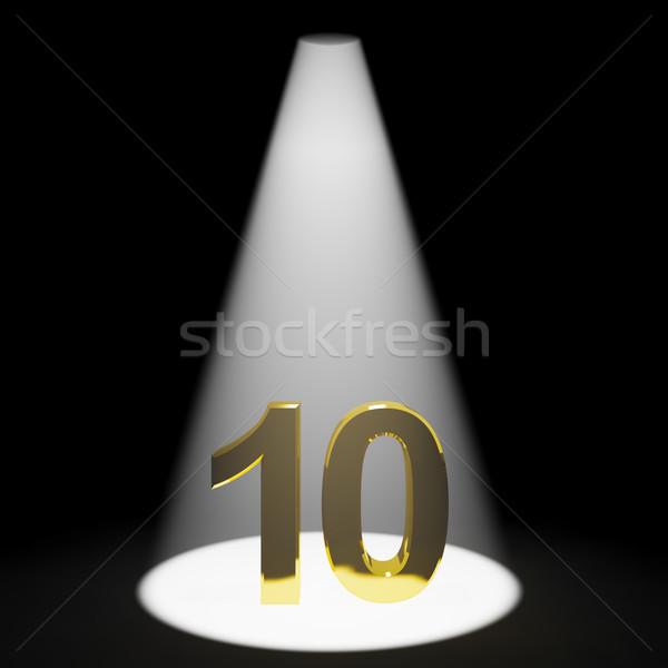 Oro 10 3D número aniversario cumpleanos Foto stock © stuartmiles