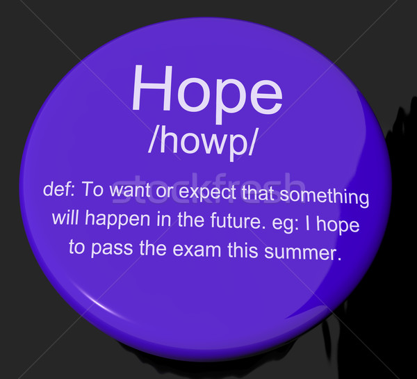 Hope Definition Button Showing Wishes Wants And Hopes Stock photo © stuartmiles