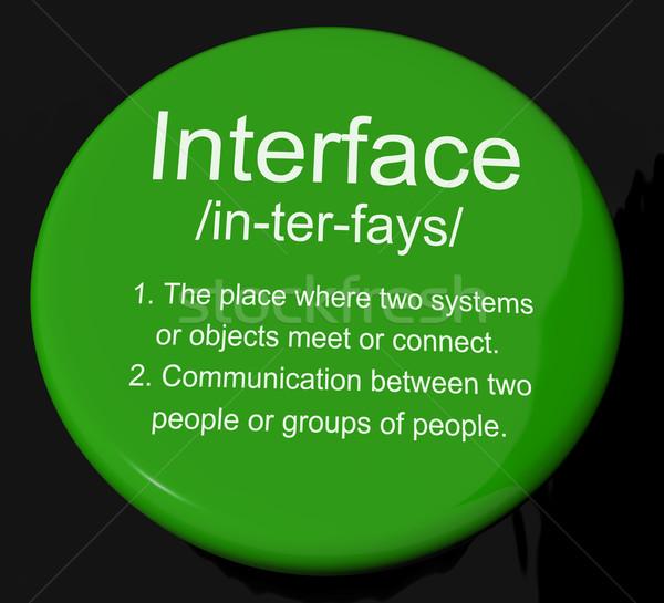 Foto stock: Interface · definição · botão · controlar · conexão