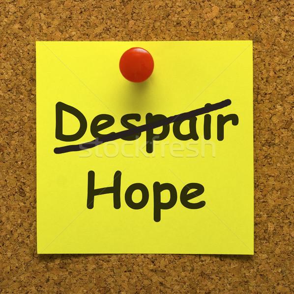 Speranza nota Foto d'archivio © stuartmiles