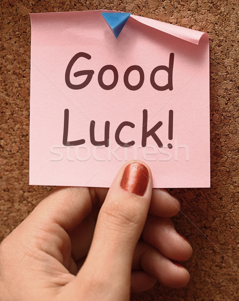 Good Luck Message Shows Best Wishes Stock photo © stuartmiles