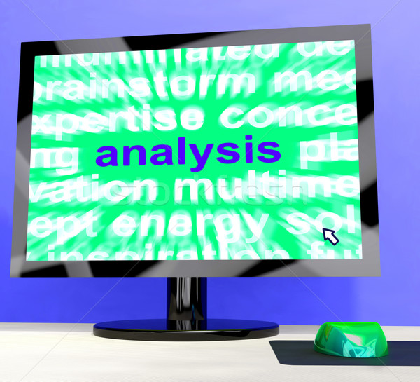 Analysis Word Showing Checking Probing And Examining Stock photo © stuartmiles