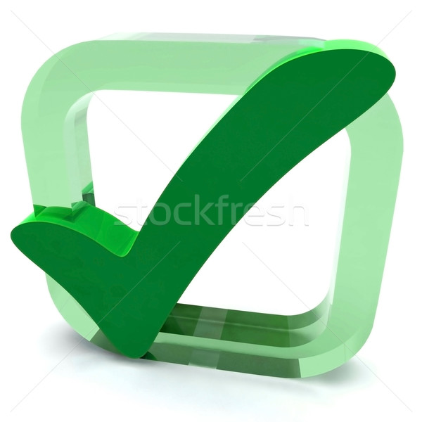 Green Tick Shows Quality And Excellence Stock photo © stuartmiles